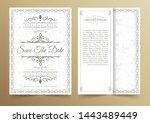 invitation card vector design   ...   Shutterstock .eps vector #1443489449