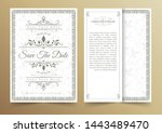 invitation card vector design   ...   Shutterstock .eps vector #1443489470