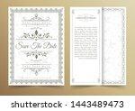 invitation card vector design   ...   Shutterstock .eps vector #1443489473