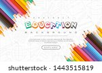abstract education background ... | Shutterstock .eps vector #1443515819