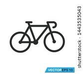 bicycle icon vector vector... | Shutterstock .eps vector #1443535043