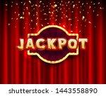jackpot casino banner text on...   Shutterstock .eps vector #1443558890