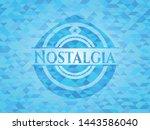 nostalgia light blue mosaic... | Shutterstock .eps vector #1443586040