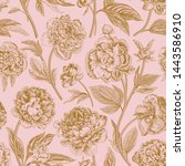 seamless pattern. classic... | Shutterstock .eps vector #1443586910