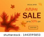 paper cut banner of sale for...