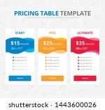 vector pricing table. colorful...