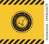 cargo icon inside warning sign  ... | Shutterstock .eps vector #1443610679