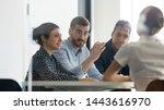 serious male boss team leader... | Shutterstock . vector #1443616970
