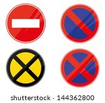 traffic glossy signs eps 10... | Shutterstock .eps vector #144362800
