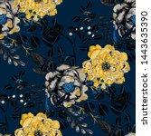 watercolor seamless pattern... | Shutterstock . vector #1443635390