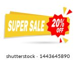 sale banner design template.... | Shutterstock .eps vector #1443645890