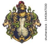 vector illustration of coat of... | Shutterstock .eps vector #1443647030