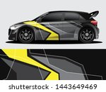 rally car decal graphic wrap...   Shutterstock .eps vector #1443649469