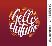 hello autumn custom typography... | Shutterstock .eps vector #1443650660