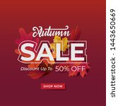 autumn background sale layout... | Shutterstock .eps vector #1443650669