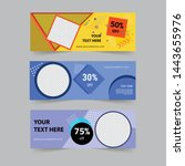 social media timeline cover ...   Shutterstock .eps vector #1443655976