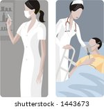 a set of 2 medical... | Shutterstock .eps vector #1443673