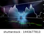Stock Market Graph Chart With...