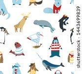 arctic animals and birds...   Shutterstock .eps vector #1443699839