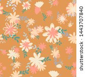 retro beautiful pattern with... | Shutterstock .eps vector #1443707840