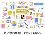 big education set collection... | Shutterstock .eps vector #1443713000