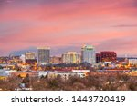 Colorado Springs, Colorado, USA downtown city skyline at dusk. - stock photo