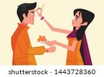 indian festival of brother and...   Shutterstock .eps vector #1443728360