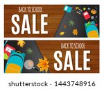 abstract vector illustration... | Shutterstock .eps vector #1443748916