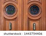 Vintage Wooden Door With Frame...