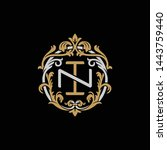 initial letter n and i  ni  in  ... | Shutterstock .eps vector #1443759440