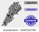 vector handmade combination of... | Shutterstock .eps vector #1443762740