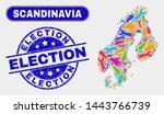 engineering scandinavia map and ... | Shutterstock .eps vector #1443766739