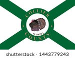 flag of collier county is a... | Shutterstock . vector #1443779243