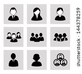 team work over gray background... | Shutterstock .eps vector #144378259