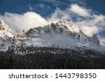 dolomites mountains in italy... | Shutterstock . vector #1443798350
