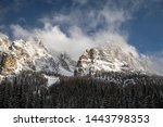 dolomites mountains in italy... | Shutterstock . vector #1443798353