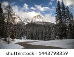 dolomites mountains in italy... | Shutterstock . vector #1443798359
