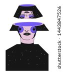 surrealistic creativity woman... | Shutterstock .eps vector #1443847526