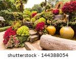 Stock photo garden flowers mae fah luang garden 144388054