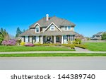big custom made luxury house... | Shutterstock . vector #144389740