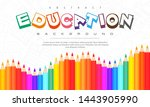 abstract education background ... | Shutterstock .eps vector #1443905990