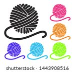 vector set of yarn ball icons.... | Shutterstock .eps vector #1443908516