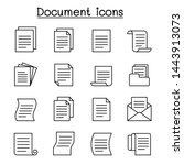 document   file icon set in... | Shutterstock .eps vector #1443913073