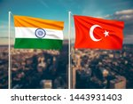 relationship between india and... | Shutterstock . vector #1443931403