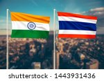 relationship between india and... | Shutterstock . vector #1443931436