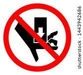 injury hazard hand crush force... | Shutterstock .eps vector #1443942686