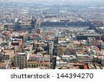 aerial view of mexico city and... | Shutterstock . vector #144394270