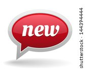 big red new speech bubble | Shutterstock .eps vector #144394444