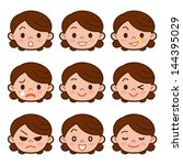 face of housewife | Shutterstock .eps vector #144395029