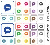 reply message color flat icons...   Shutterstock .eps vector #1443959870